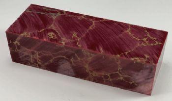 Red with Gold Matrix Tru-stone Block 1.1